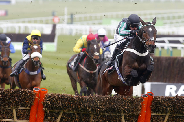 Altior winning the Sky Bet Supreme Novices' Hurdle (Grade 1)