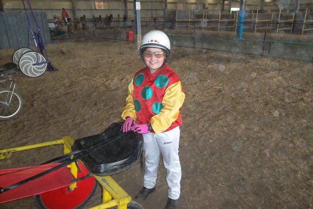 Sarah, one of the leading pony trots drivers in Victoria so far this season.