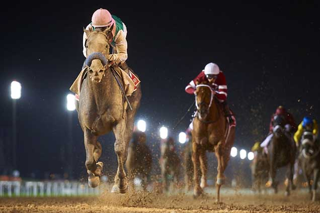 Arrogate winning the Dubai World Cup Sponsored By Emirates Airline