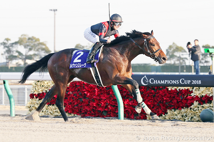 LE VENT SE LEVE winning the Champions cup in Chukyo, Japan.