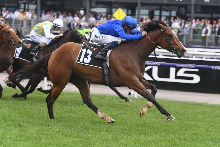 POHUTUKAWA winning the Jim Beam Black Stakes