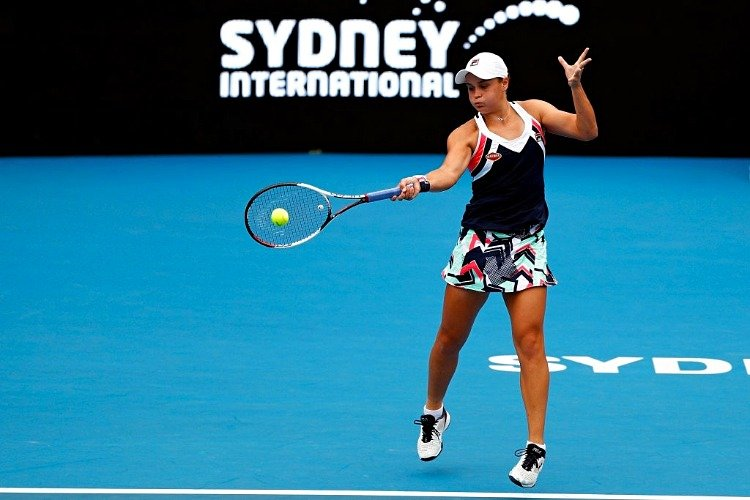 ASHLEIGH BARTY at Sydney Olympic Park Tennis Centre in Australia.
