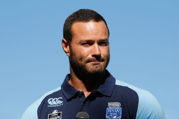 Blues Captain BOYD CORDNER takes the stage during the 2018 State of Origin launch at Arbory Afloat in Melbourne, Australia.