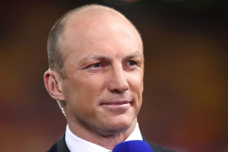 Former NRL player DARREN LOCKYER is seen before the State Of Origin series between the Queensland Maroons and the New South Wales Blues at Suncorp Stadium in Brisbane, Australia.