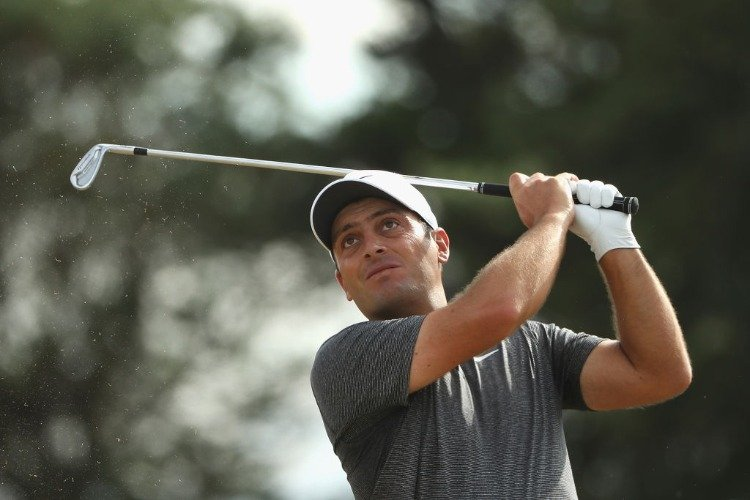 FRANCESCO MOLINARI of Italy plays his shot during the 147th Open Championship at Carnoustie Golf Club in Carnoustie, Scotland.
