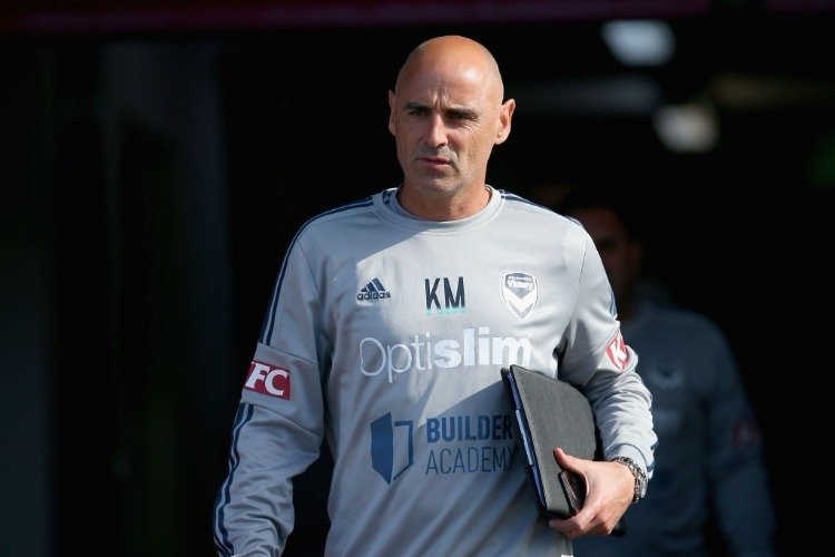 KEVIN MUSCAT head coach of the Victory during a Melbourne Victory A-League training session at WIN Jubilee Stadium in Sydney, Australia.