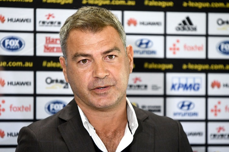 MARK RUDAN addresses the media at a Wellington Phoenix A-League press conference after being appointed new head coach at Westpac Stadium in Wellington, New Zealand. Rudan has signed a two-year deal with the club.