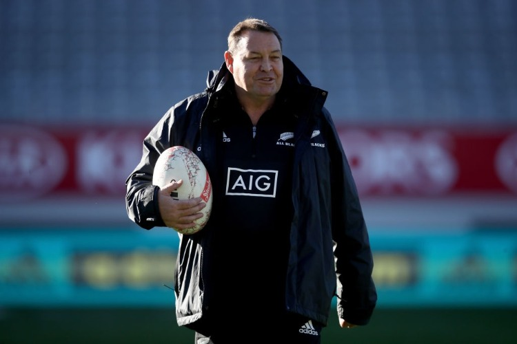 All Black coach STEVE HANSEN during the New Zealand All Blacks Captain's Run at Eden Park in Auckland, New Zealand.