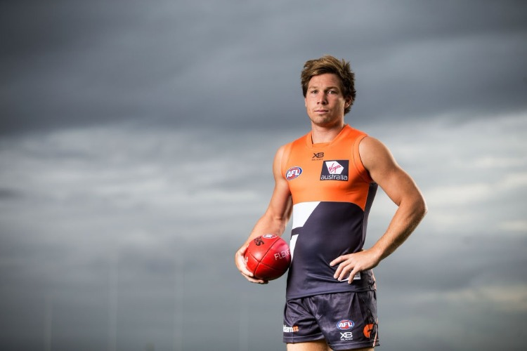 TOBY GREENE poses during the Greater Western Sydney Giants AFL media day in Sydney, Australia.