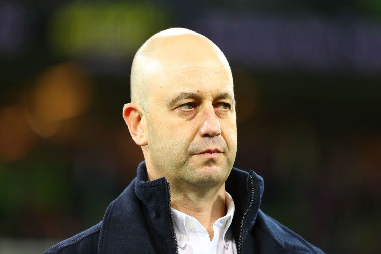TODD GREENBERG, Chief Executive Officer of the National Rugby League looks on after the NRL match between the Melbourne Storm and the Canberra Raiders at AAMI Park in Melbourne, Australia.