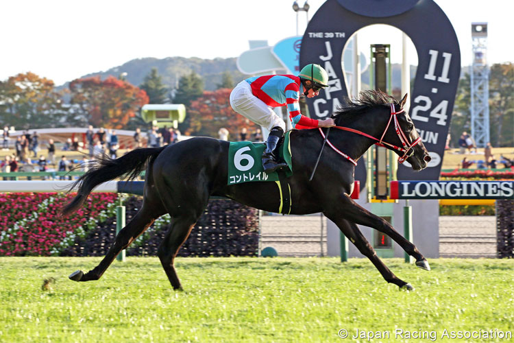 CONTRAIL winning the Nisai Stakes in Tokyo, Japan.