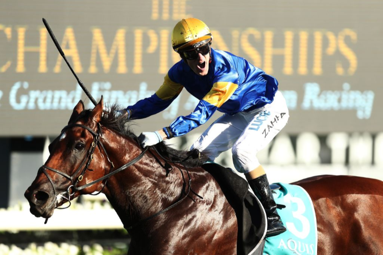 SANTA ANA LANE winning the Aquis T J Smith Stakes during day one of The Championships as part of Sydney Racing at Royal Randwick in Sydney, Australia.