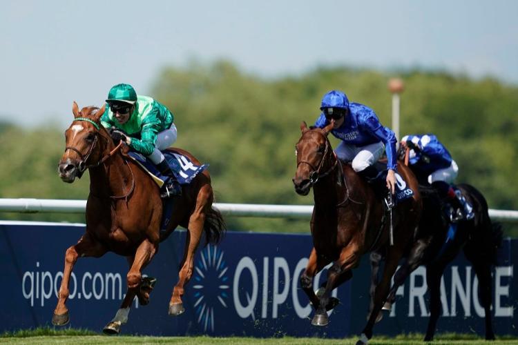 SOTTSASS winning the Prix du Jockey Club at Hippodrome de Chantilly in Chantilly, France.