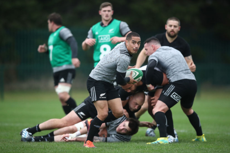 New Zealand All Blacks training session.