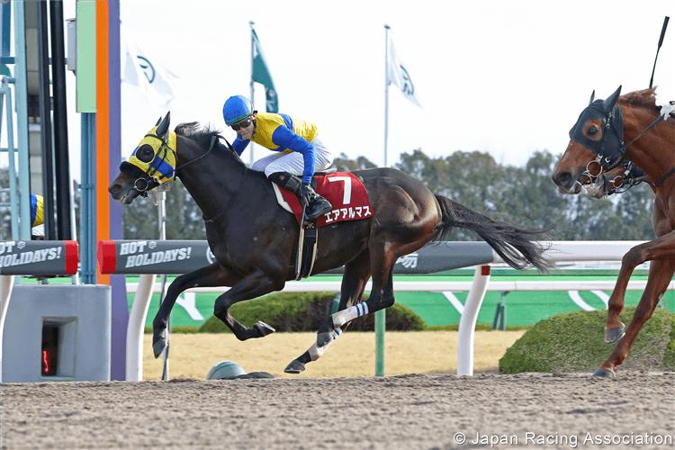AIR ALMAS winning the  Tokai Stakes in Kyoto, Japan.