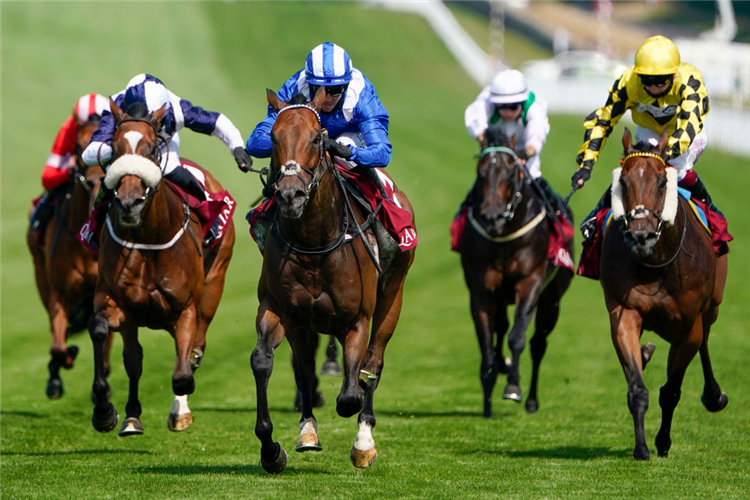 BATTAASH winning the King George Stakes at Goodwood in England.