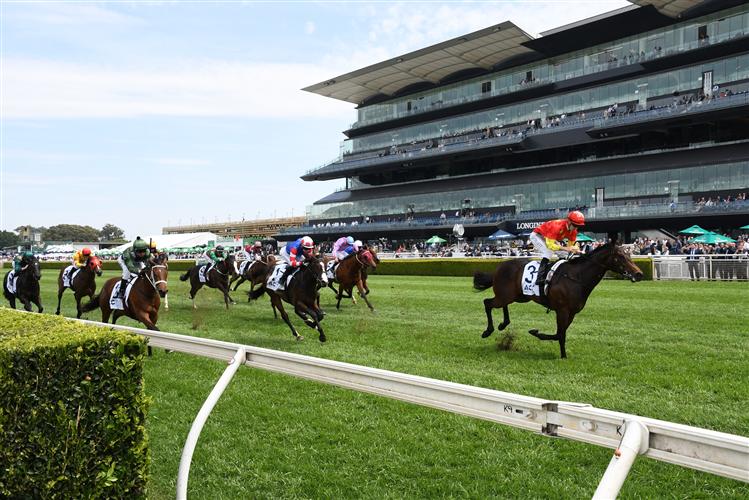 CAPTIVANT winning the Acy Securities Victory Vein Plate at Royal Randwick in Australia.