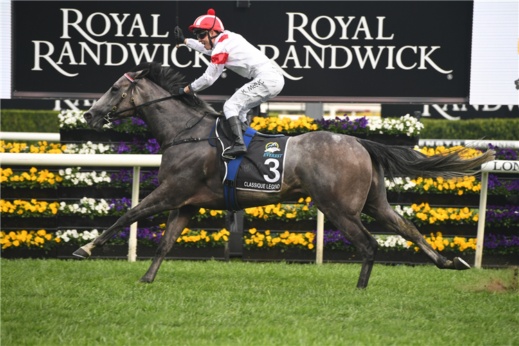 CLASSIQUE LEGEND winning the The Tab Everest at Royal Randwick in Australia.