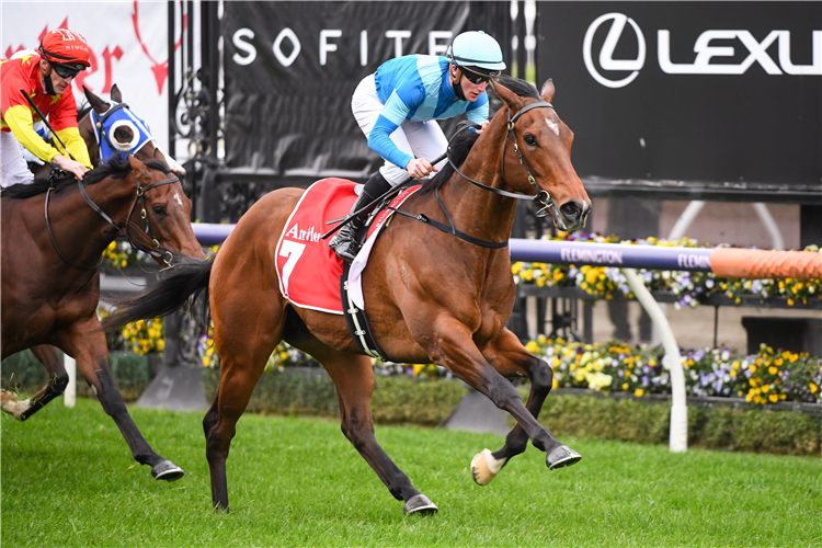CROSSHAVEN winning the Antler Luggage Exford Plate at Flemington in Australia.