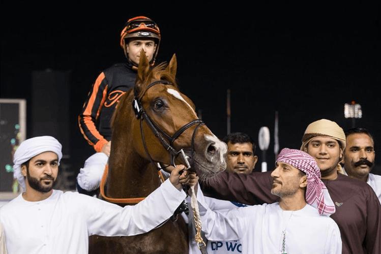 GLADIATOR KING parading after winning Al Shindagha Sprint Sponsored By DP World UAE Regionon 30th Jan, 2020