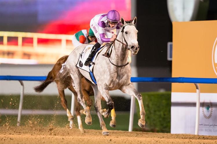 PARSIMONY winning the Curlin Stakes Sponsored By Mohammed Bin Rashid Al Maktoum City-District One
