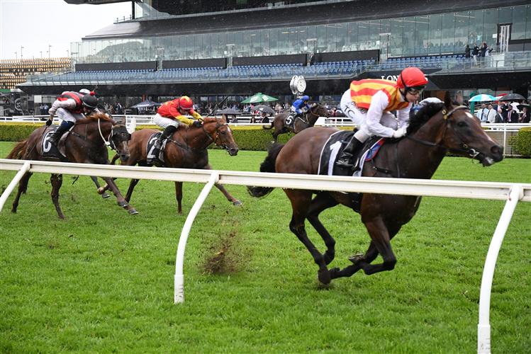 PELTZER winning the Bondi Stakes at Royal Randwick in Australia.