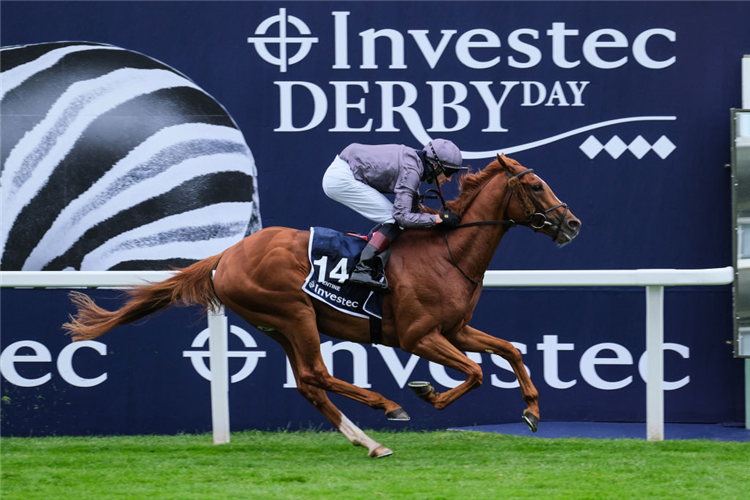 SERPENTINE winning the Investec Derby at Epsom in England.