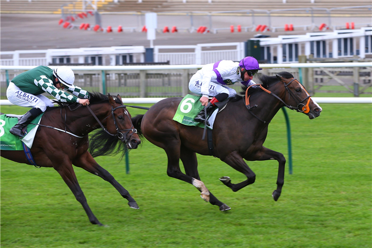 SUPREMACY winning the Juddmonte Middle Park Stakes (Group 1)