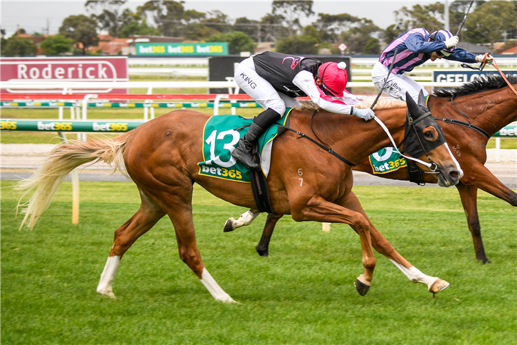 SWEET KAROLINA winning the Roderick Insurance Brokers Mdn at Geelong in Australia.