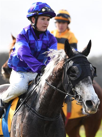 Leading apprentice jockey Sarah Macnab.