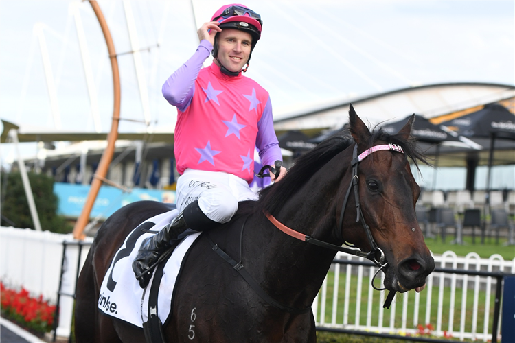 Jockey TOMMY BERRY after winning Drinkwise Civic Stakes.