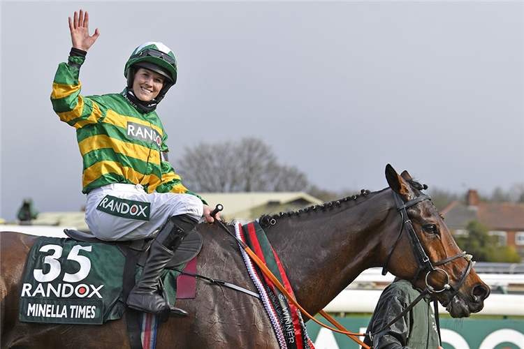 MINELLA TIMES parading after winning the Randox Grand National Handicap Chase.