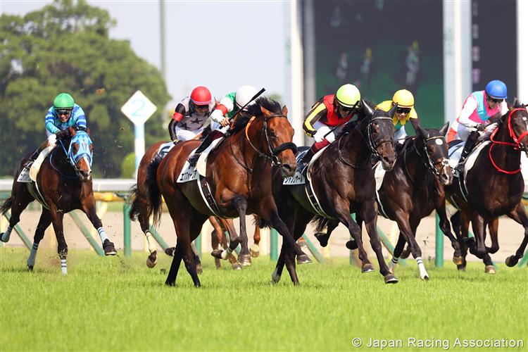SHAHRYAR (yellow cap) winning the Tokyo Yushun (Japanese Derby) at Tokyo in Japan.
