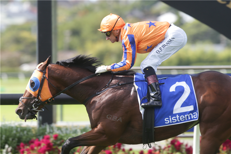 SWORD OF STATE winning the Sistema Stakes