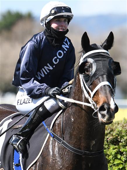 Apprentice rider Faye Lazet aboard impressive Awapuni winner Colorado Star
