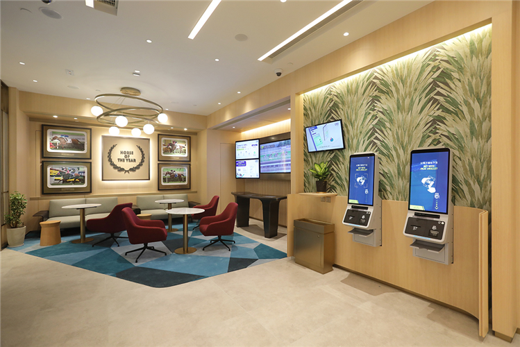 The relaxing seating area is fitted with upgraded digital facilities to enhance customer convenience.