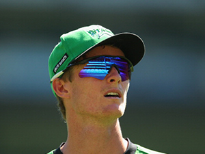 Alex Keath of the Stars looks on during the Big Bash League match at the MCG in 2014