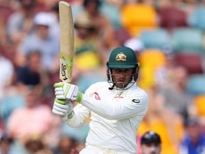 Usman Khawaja of Australia bats during day two of the First Test Match of the 2017/18 Ashes Series. November 24, 2017.