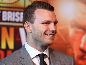 JEFF HORN speaks to media during the official press conference ahead of the WBO World Welterweight Championship fight between Jeff Horn and Gary Corcoran at Sky Terrace in Brisbane, Australia.