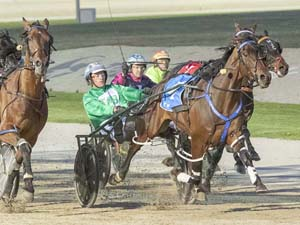 Galactic Star winning the TAB INTER DOMINION PACING CHAMPIONSHIP (1ST ROUND QUALIFYING HEAT 2) (GROUP 3)