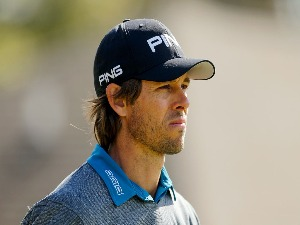 AARON BADDELEY of Australia looks on during the Sanderson Farms Championship at the Country Club of Jackson in Jackson, Mississippi.