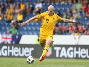 AARON MOOY of Australia during the International Friendly match between the Czech Republic and Australia Socceroos at NV Arena in Sankt Polten, Austria.