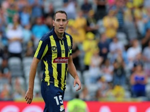 ALAN BARO of the Mariners looks on during the A-League match between the Central Coast Mariners and Sydney FC at Central Coast Stadium in Gosford, Australia.