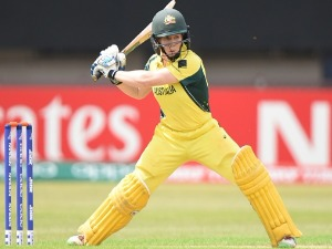 ALEX BLACKWELL of Australia batting during the ICC Women's World Cup 2017 match between Pakistan and Australia at Grace Road in Leicester, England.