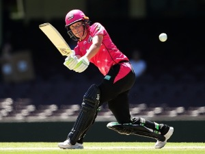 ALYSSA HEALY of the Sixers bats during the Women's Big Bash League match between the Sydney Sixers and the Brisbane Heat at SCG in Sydney, Australia.