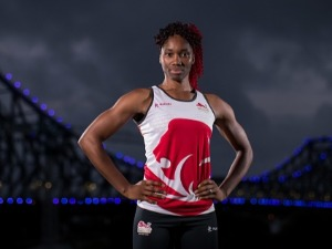 AMA AGBEZE poses during a Team England media opportunity ahead of the 2018 Gold Coast Commonwealth Games, at All Hallows School in Brisbane, Australia.