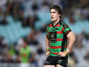 ANGUS CRICHTON of the Rabbitohs during the NRL match between the South Sydney Rabbitohs and the Canberra Raiders at ANZ Stadium in Sydney, Australia.
