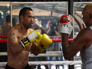 ANTHONY MUNDINE trains ahead of his fight with Jeff Horn in Brisbane, Australia.