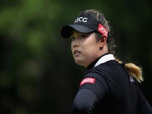 Ariya Jutanugarn of Thailand stands on the ninth green during the 2018 U.S. Women's Open at Shoal Creek in Shoal Creek, Alabama.
