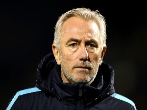 BERT VAN MARWIJK, Head coach of Australia looks on prior to the International friendly between Australia and Colombia at Craven Cottage in London, England.